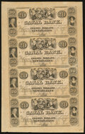 Obsoletes By State:Louisiana, New Orleans, LA- Canal Bank $20-$20-$20-$20 18__ Uncut Sheet Crisp Uncirculated. ...