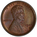 "Lincoln Cents, 1909-S 1C VDB MS65 Brown PCGS. CAC. The ""Brown"" color of this piece is a blend of chestnut, olive, gold, lilac, and sea-gre..."