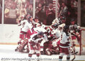 Hockey Collectibles:Others, MIKE ERUZIONE SIGNED OLYMPIC HOCKEY POSTER. Mike Eruzione ...