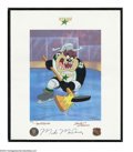 Hockey Collectibles:Others, MIKE MODANO SIGNED WARNER BROS. LITHO Personally ...