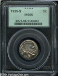 Buffalo Nickels: , 1935-S MS65 PCGS. The current Coin Dealer Newsletter (...