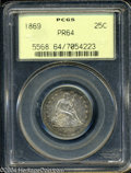 Proof Seated Quarters: , 1869 PR 64 PCGS. The current Coin Dealer Newsletter (...