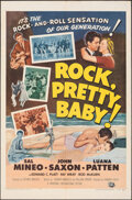 """Movie Posters:Rock and Roll, Rock, Pretty Baby (Universal International, 1957). Folded, Fine/Very Fine. One Sheet (27"""" X 41""""). Rock and Roll.. ..."""