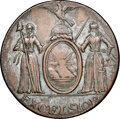 Colonials, 1787 N YORK New York Excelsior Copper, Eagle on Globe Left, Silvered, XF45 NGC. W-5785, R.6....