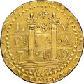 Colonials, 1786 DBLN Brasher Lima Doubloon MS61 NGC. CAC. W-5820....