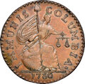 Colonials, 1786 COPPER New Jersey Immunis Columbia MS62 Brown NGC. Crosby VII, 17, Maris 3-C, Breen-1129, W-5670, High R.6. ...