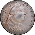 Colonials, 1787 COPPER New York Excelsior Copper, George Clinton AU58 NGC. Crosby Plate VIII Number 5, Figure 62, Breen-989, W-5790. Hig...