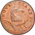 Colonials, 1787 NJERSY New Jersey Copper, Period After CAESAREA, M. 53-j, W-5290, R.4, MS65 Red and Brown NGC. ...