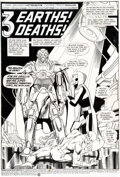 Original Comic Art:Splash Pages, George Pérez and Jerry Ordway Crisis on Infinite Earths #6 Splash Page 1 Anti-Monitor and the Flash Original Art (...