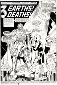 George Pérez and Jerry Ordway Crisis on Infinite Earths #6 Splash Page 1 Anti-Monitor and the Flash Original Art...