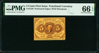 Fr. 1228 5¢ First Issue PMG Gem Uncirculated 66 EPQ