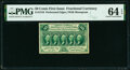 Fr. 1310 50¢ First Issue PMG Choice Uncirculated 64 EPQ