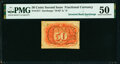 Fractional Currency:Second Issue, Fr. 1317 50¢ Second Issue Inverted Back Surcharge PMG About Uncirculated 50.. ...