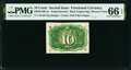 Fractional Currency:Second Issue, Milton 2E10R.4c 10¢ Second Issue Experimental PMG Gem Uncirculated 66 EPQ.. ...
