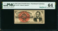 Fr. 1374 50¢ Fourth Issue Lincoln PMG Choice Uncirculated 64