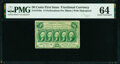 Fr. 1310a 50¢ First Issue 14 Perforations PMG Choice Uncirculated 64