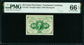 Fr. 1242 10¢ First Issue PMG Gem Uncirculated 66 EPQ