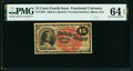 Fractional Currency:Fourth Issue, Fr. 1268 15¢ Fourth Issue PMG Choice Uncirculated 64 EPQ.. ...