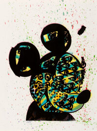 Bast (20th century) Mickey, 2007 Screenprint in colors with hand-embellishments on wove paper 30