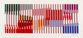 Prints & Multiples, Yaacov Agam (b. 1928). Untitled, late 20th century. Serigraph in colors on wove paper. 19 x 39-1/2 inches (48.3 x 100.3 ...