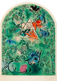 After Marc Chagall By Charles Sorlier The Tribe of Issachar, from Jerusalem Windows</