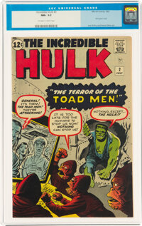 The Incredible Hulk #2 (Marvel, 1962) CGC NM- 9.2 Off-white to white pages