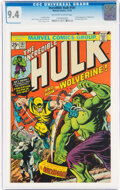 Bronze Age (1970-1979):Superhero, The Incredible Hulk #181 (Marvel, 1974) CGC NM 9.4 Off-white to white pages....