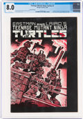 Modern Age (1980-Present):Alternative/Underground, Teenage Mutant Ninja Turtles #1 Second Printing (Mirage Studios, 1984) CGC VF 8.0 White pages....