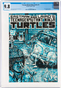 Modern Age (1980-Present):Alternative/Underground, Teenage Mutant Ninja Turtles #3 (Mirage Studios, 1985) CGC NM/MT 9.8 White pages....