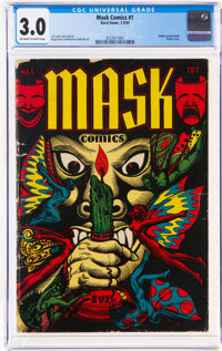 Mask Comics #1 (Rural Home, 1945) CGC GD/VG 3.0 Off-white to white pages