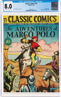 Classic Comics #27 The Adventures of Marco Polo - First Edition (Gilberton, 1946) CGC VF 8.0 Off-white to white pages...