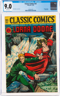 Classic Comics #32 Lorna Doone - First Edition (Gilberton, 1946) CGC VF/NM 9.0 White pages