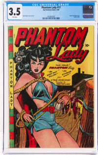 Phantom Lady #17 (Fox Features Syndicate, 1948) CGC VG- 3.5 Pink pages