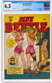 Blue Beetle #54 (Fox Features Syndicate, 1948) CGC FN+ 6.5 Off-white pages