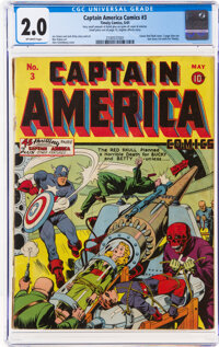Captain America Comics #3 (Timely, 1941) CGC GD 2.0 Off-white pages
