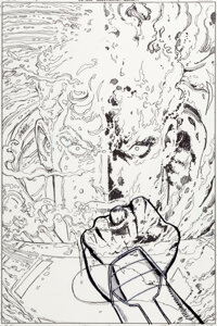 George Perez SupermanV3#5 Cover Original Art (DC, 2012)