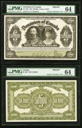 World Currency, Canada Dominion of Canada $50,000 2.1.1924 Pick 34Cp DC-39P Front and Back Proofs PMG Choice Uncirculated 64 (2).. ... (Total: 2 notes)