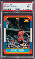 Basketball Cards:Singles (1980-Now), 1986 Fleer Michael Jordan #57 PSA NM+ 7.5. ...