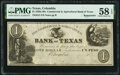 Columbia, TX - Commercial & Agricultural Bank of Texas $1/Un Peso 18__ Remainder G2 Medlar 18 PMG Choice About Unc...