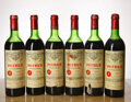Red Bordeaux, Chateau Petrus 1975 . Pomerol . 1hs, 1htms, 4ms, 1nl, 1lwasl, 1lwisl, 2cc, 2nc, 2sdc, 1spc, excellent color. Bottle (6)... (Total: 6 Btls. )
