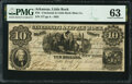 Little Rock, AR- Cincinnati & Little Rock Slate Compy. $10 Mar. 1, 1855 Rothert 409-10 PMG Choice Uncirculated 63...