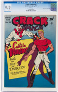 Golden Age (1938-1955):Superhero, Crack Comics #33 Mile High Pedigree (Quality, 1944) CGC NM- 9.2 White pages....