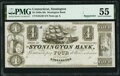 Obsoletes By State:Connecticut, Stonington, CT- Stonington Bank $4 18__ Remainder G30 PMG About Uncirculated 55.. ...