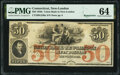 Obsoletes By State:Connecticut, New London, CT- Union Bank in New London $50 18__ Remainder G236a PMG Choice Uncirculated 64.. ...