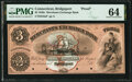 Bridgeport, CT- Merchants Exchange Bank $3 18__ as G6a Proof PMG Choice Uncirculated 64