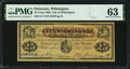 Obsoletes By State:Delaware, Wilmington, DE- City of Wilmington 25¢ Dec. 1, 1862 PMG Choice Uncirculated 63.. ...