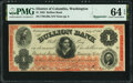 Obsoletes By State:District of Columbia, Washington, DC- Bullion Bank $1 July 4, 1862 Remainder G20a PMG Choice Uncirculated 64 EPQ.. ...