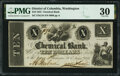 Obsoletes By State:District of Columbia, Washington, DC- Chemical Bank $10 July 14, 1853 G18 PMG Very Fine 30.. ...