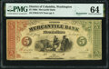 Obsoletes By State:District of Columbia, Washington, DC- Mercantile Bank $5 186_ Remainder G6 PMG Choice Uncirculated 64.. ...