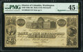 Washington, DC- Bank of the Metropolis $100 18__ G64 Remainder PMG Choice Extremely Fine 45 EPQ